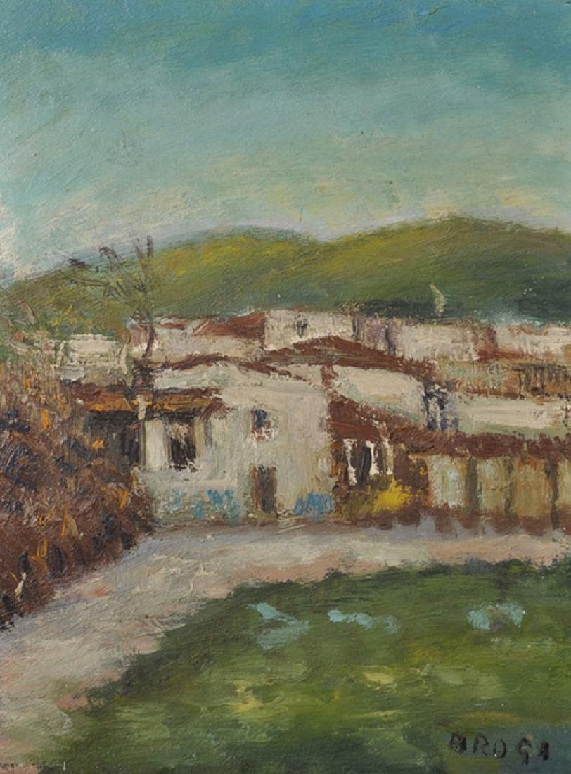 "Gino Brogi (1902-1989) Italian. ""Paesaggio"", A Study of"