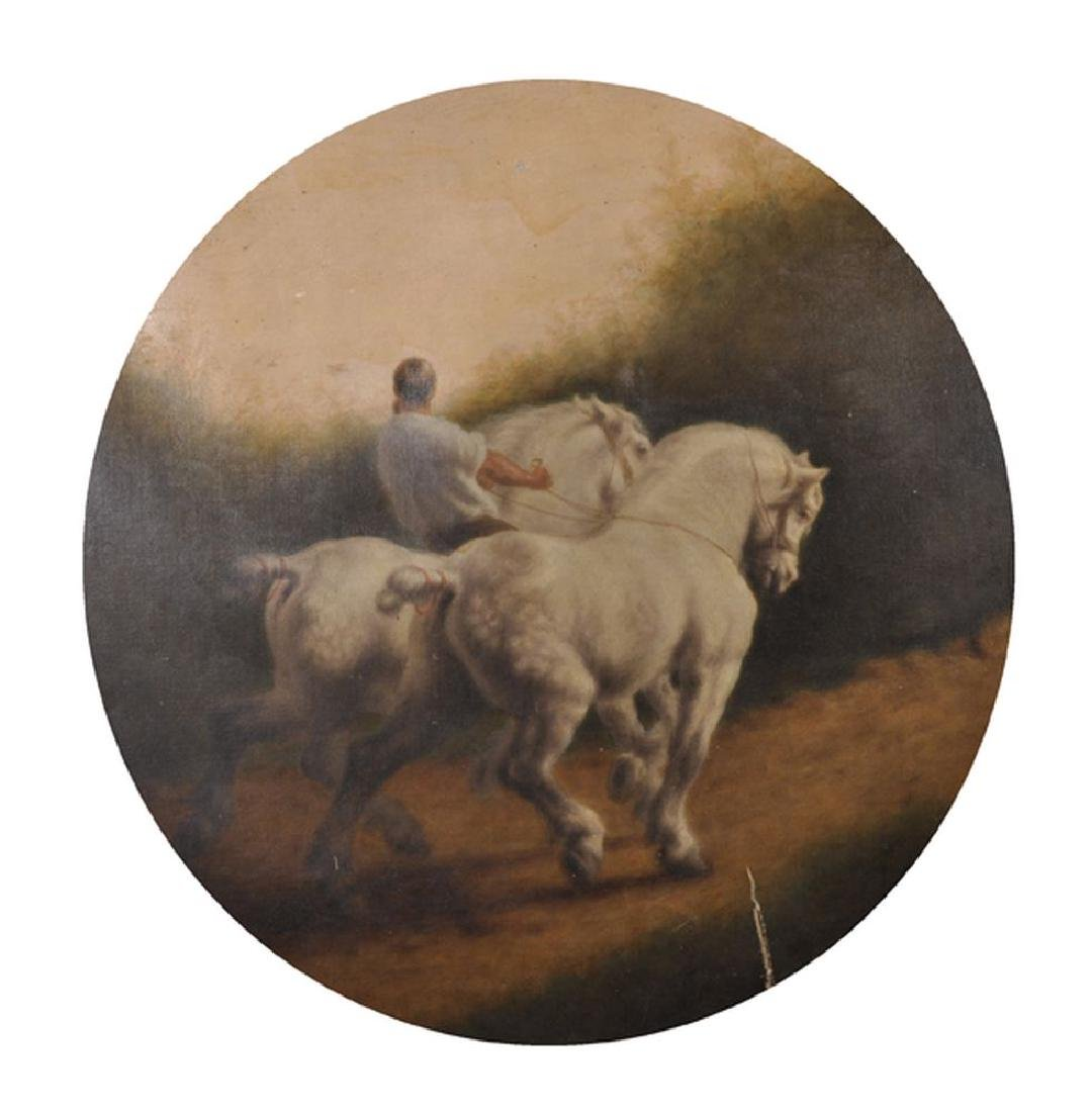 Manner of Rosa Bonheur (1822-1899) French. A Man with