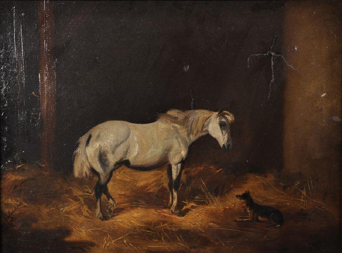 John Alfred Wheeler (1820-1903) British. Stable