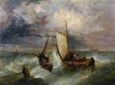George Armfield 18081893 British A Shipping Scene