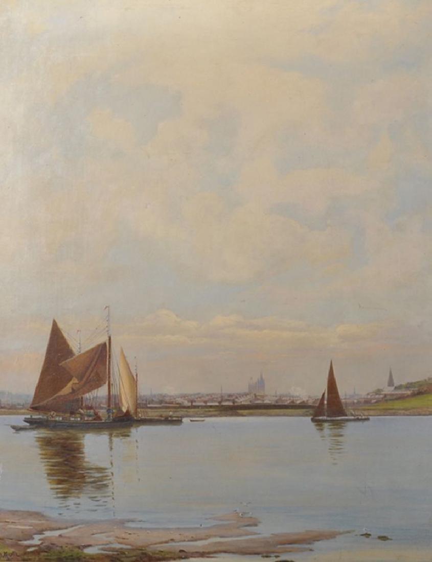Henry Martin (1835-1908) British. A River Landscape,