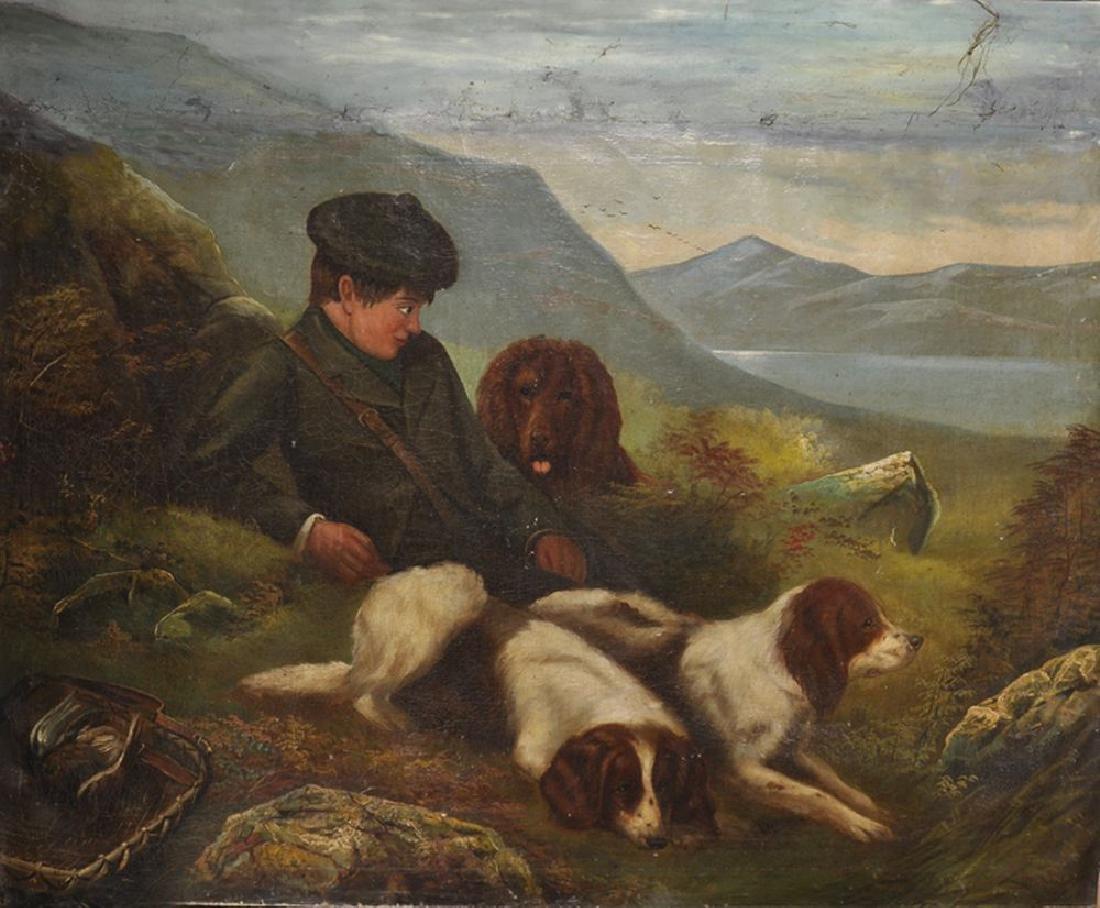 19th Century English School. A Highland River Landscape