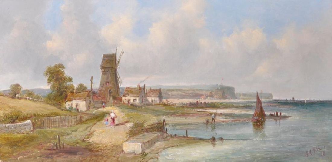Alfred H Vickers (1853-1907) British. A Coastal Scene,