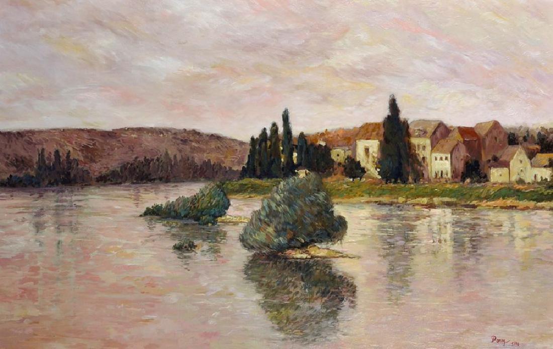 Perez (20th Century) Continental. A River Landscape,