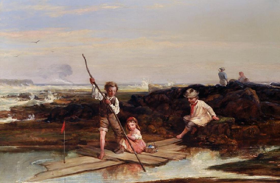 William Collins (1788-1847) British. 'Rafting Amid the