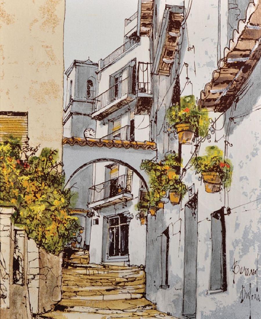 Bernard Dufour (1922-2016) French. 'Majorcan Street',