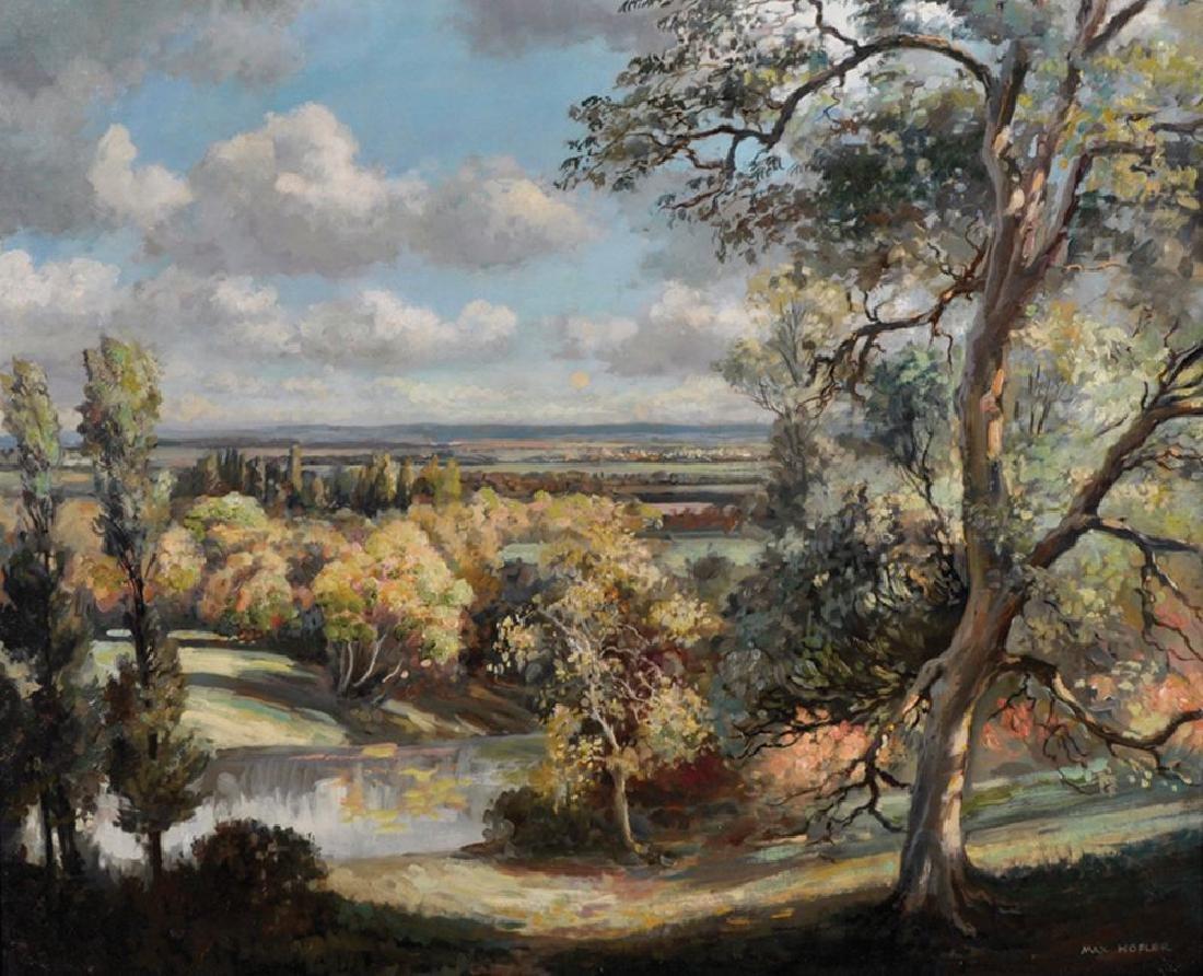 Max Hofler (1892-1963) British. An Extensive River