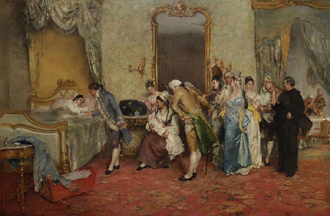 "Juan Antonio Gonzalez (1842-1914) Spanish.  ""The Return"