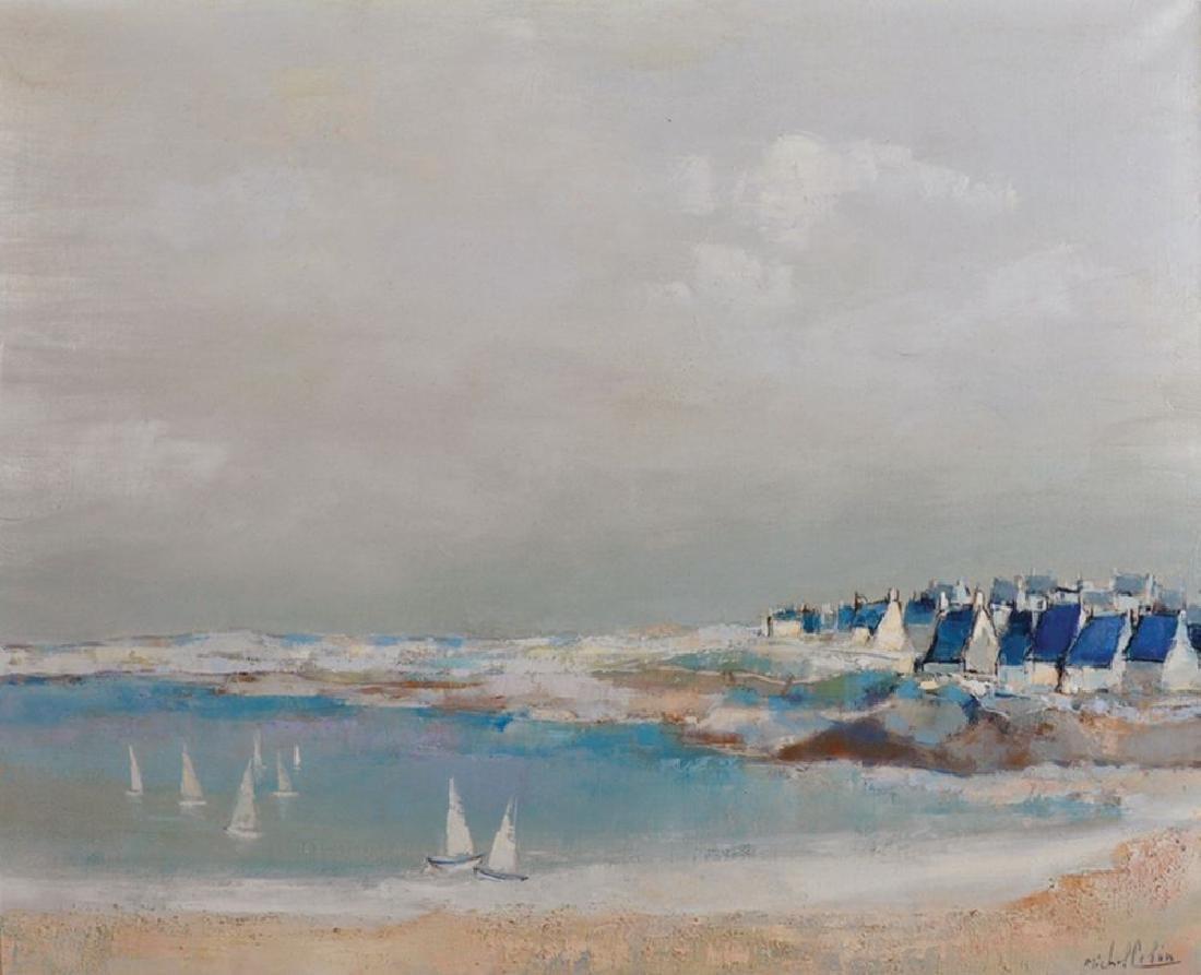 """Michel Colin (1934    ) French. """"Plage de Pentrez"""", A"""