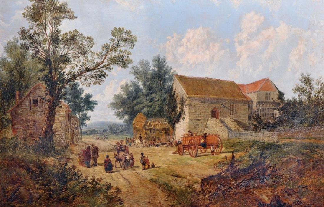 John Holland (act.1831-1879) British. 'A Village