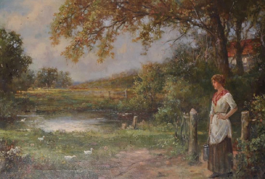 Stanley Leighton (19th-20th Century) British. A Woman