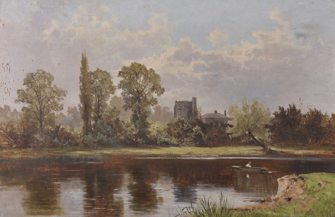Arthur Bevan Collier (1832-1908) British. A River