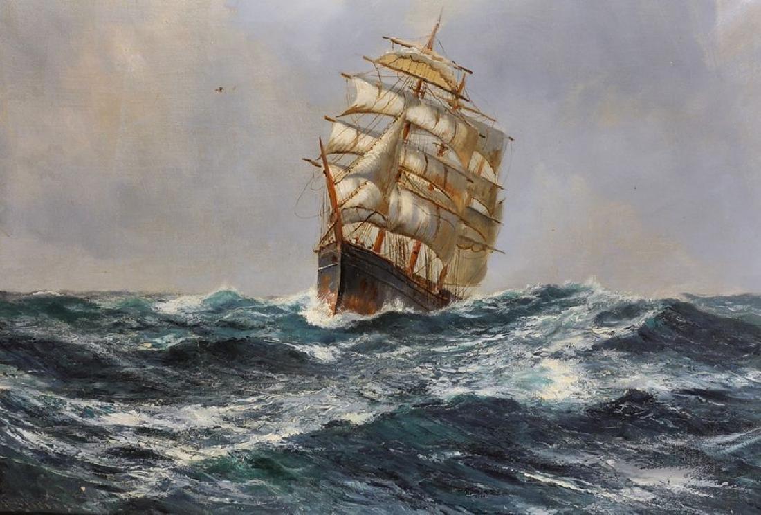 Daniel Sherrin (1868-1940) British. A Three Mast