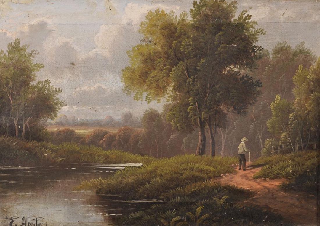 Etty Horton (act. 1884-1918) British. A River Landscape