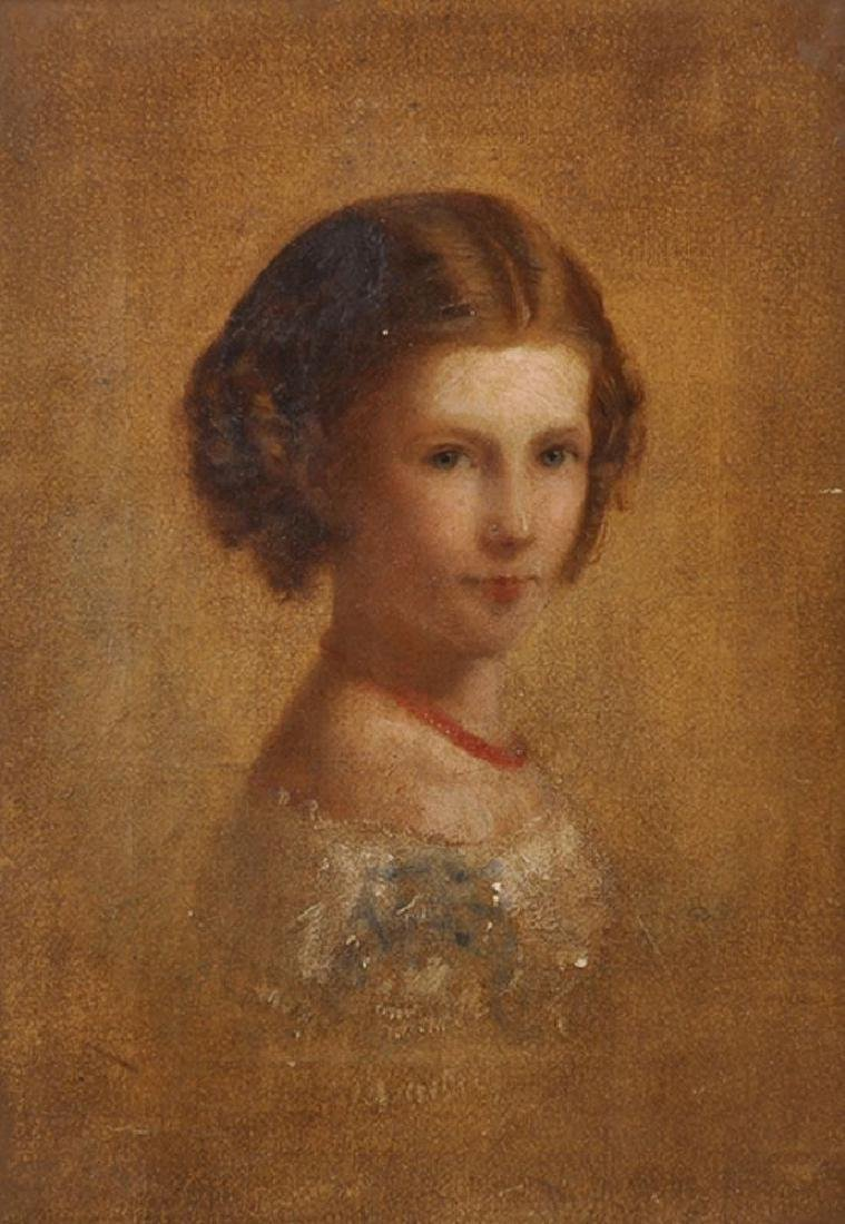 19th Century English School. Bust Portrait of a Young