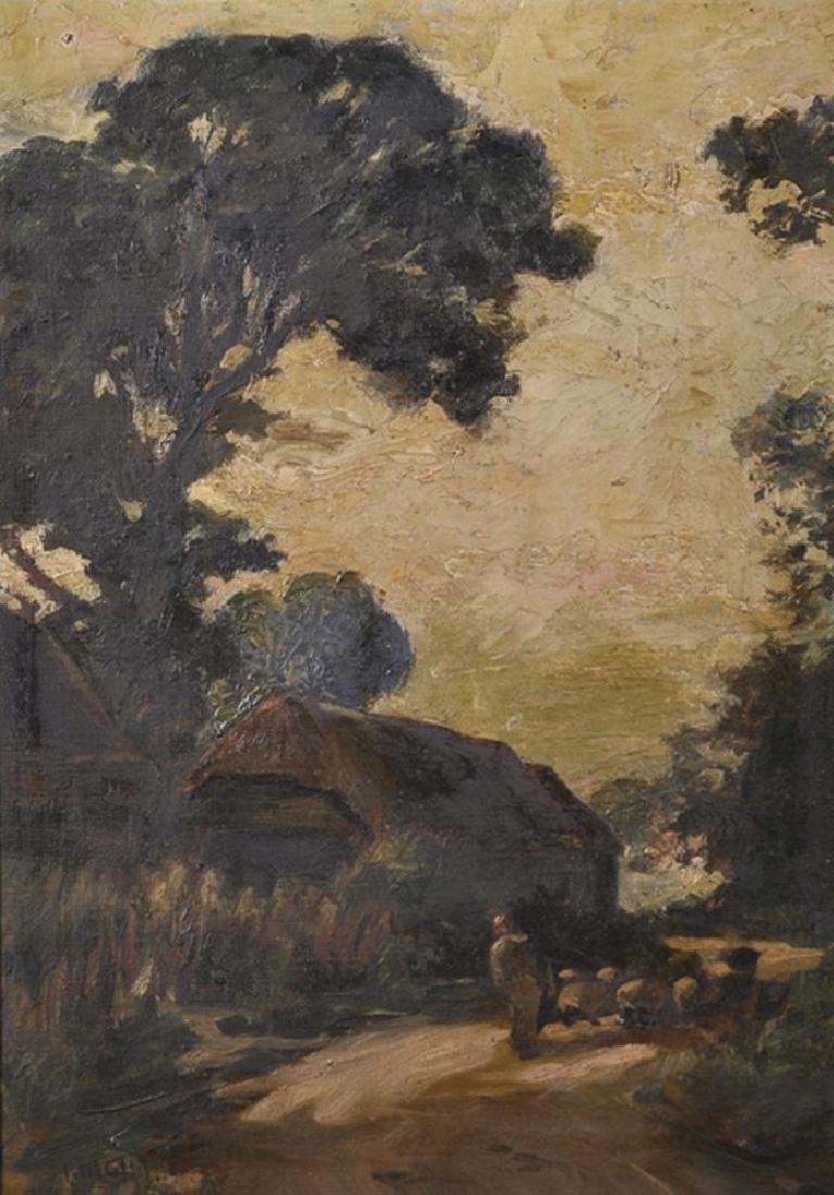 "Joseph Knight (1837-1909) British. ""A Lane in"
