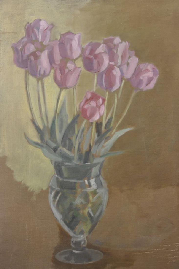 A...V...Bramble (20th Century) British. Tulips in a