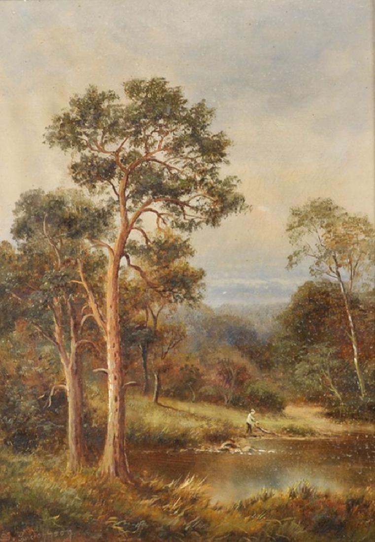 Sidney Yates Johnson (act.1890-1926) British. A River