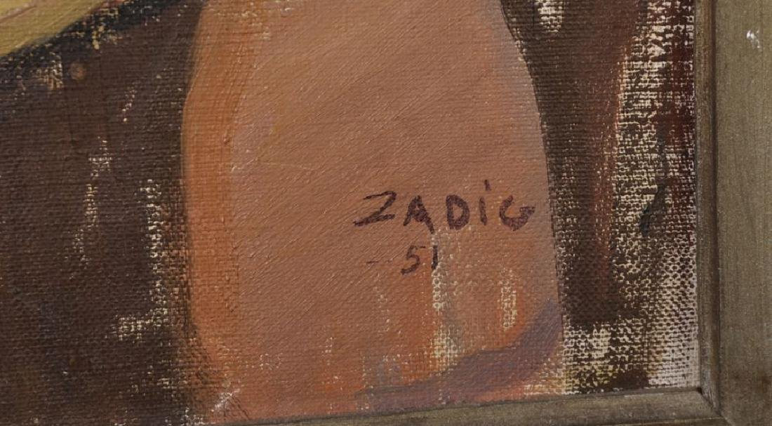 Jacques Zadig (1930    ) Swedish. Nude Woman Sitting by - 3