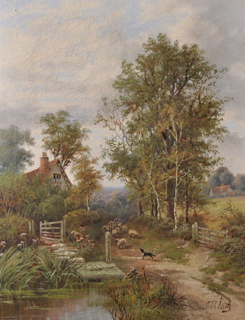 Octavius Thomas Clark (1850-1921) British. A Shepherd