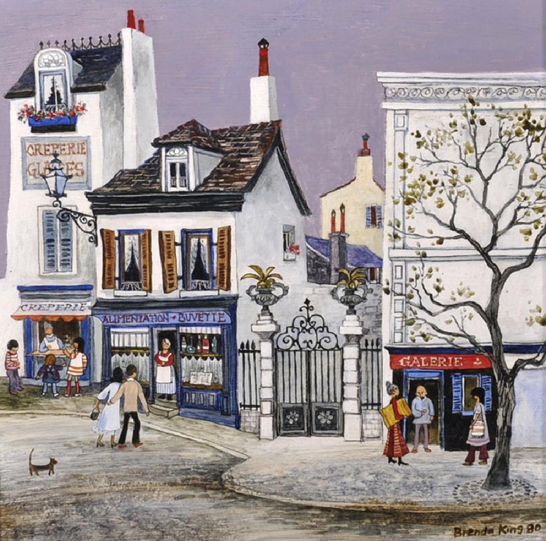 "Brenda King (1934    ) British.  ""Mont-Cenis, Paris"", A"
