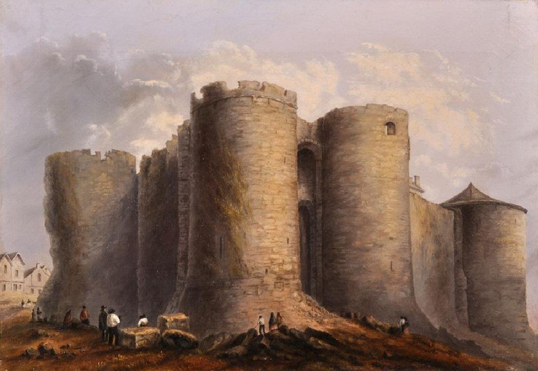 Parker Ryans (19th Century) American. Chateau D'Angers
