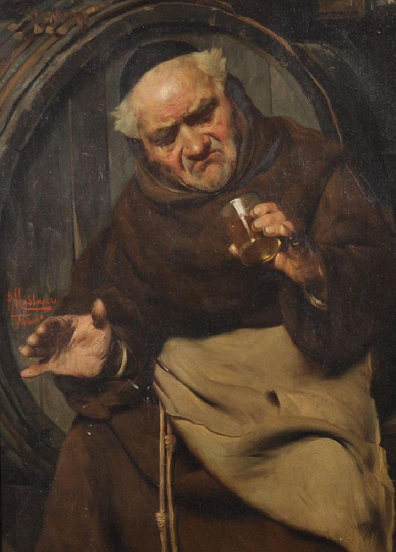 Pompeo Massani (1850-1920) Italian. Interior with a