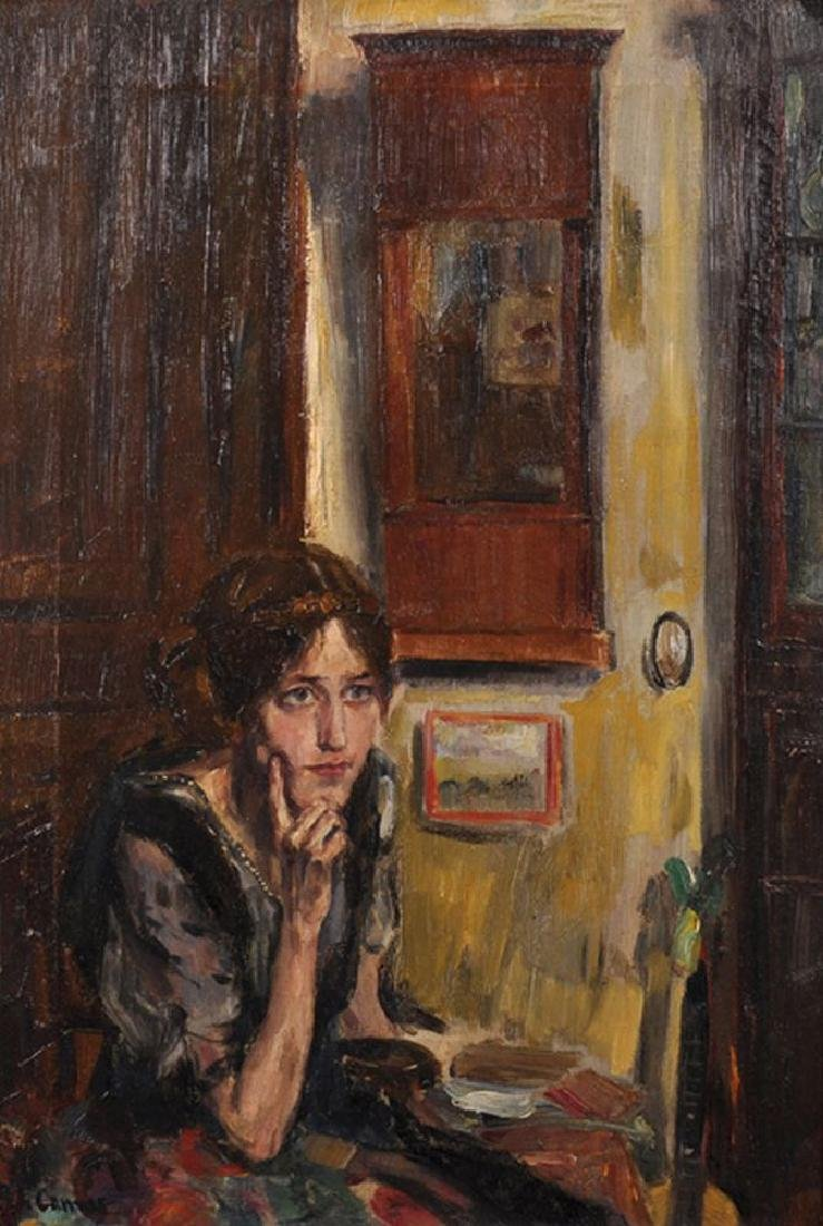 Blanche Augustine Camus (1881-1968) French. Portrait of