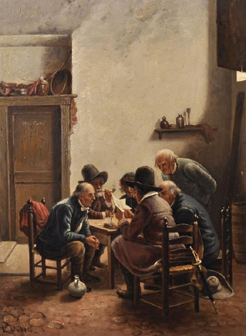"Louis Dubois (1830-1880) Belgian. ""An Interesting"