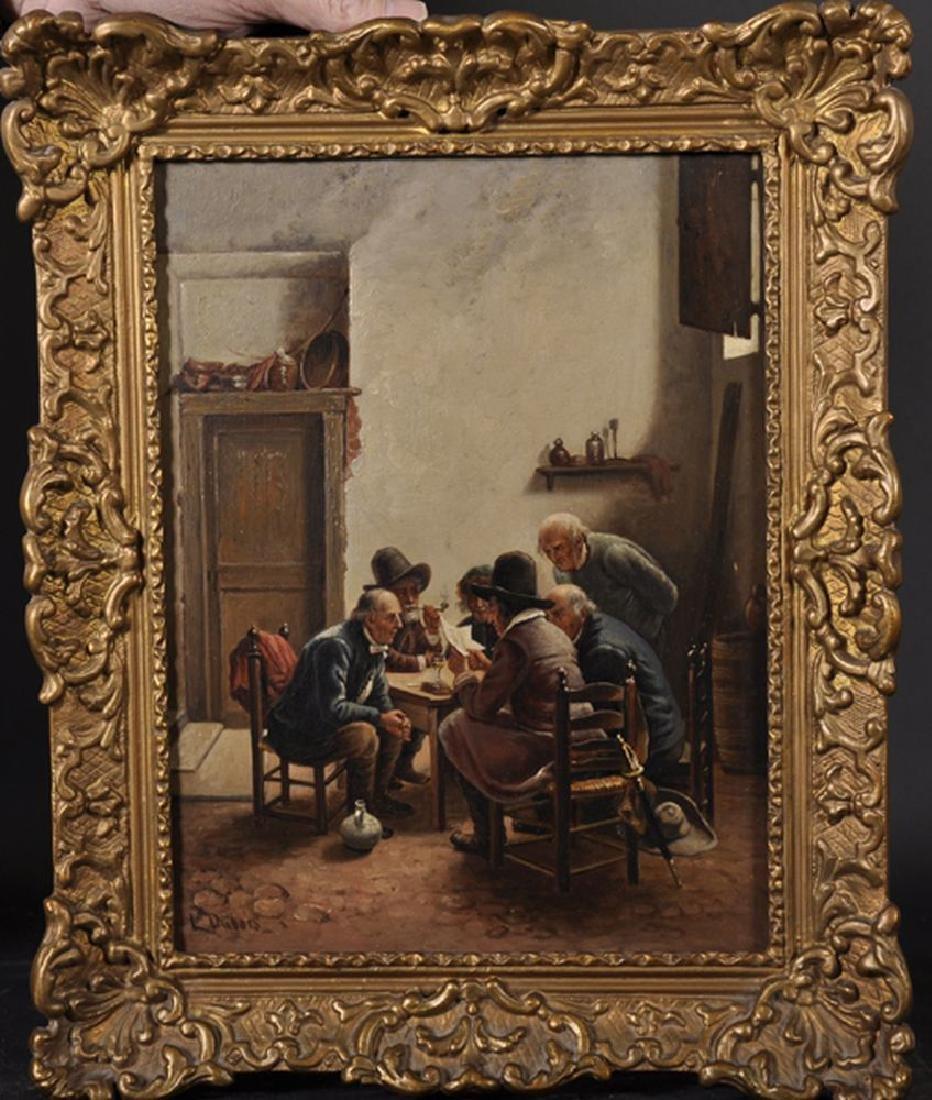 "Louis Dubois (1830-1880) Belgian. ""An Interesting - 2"