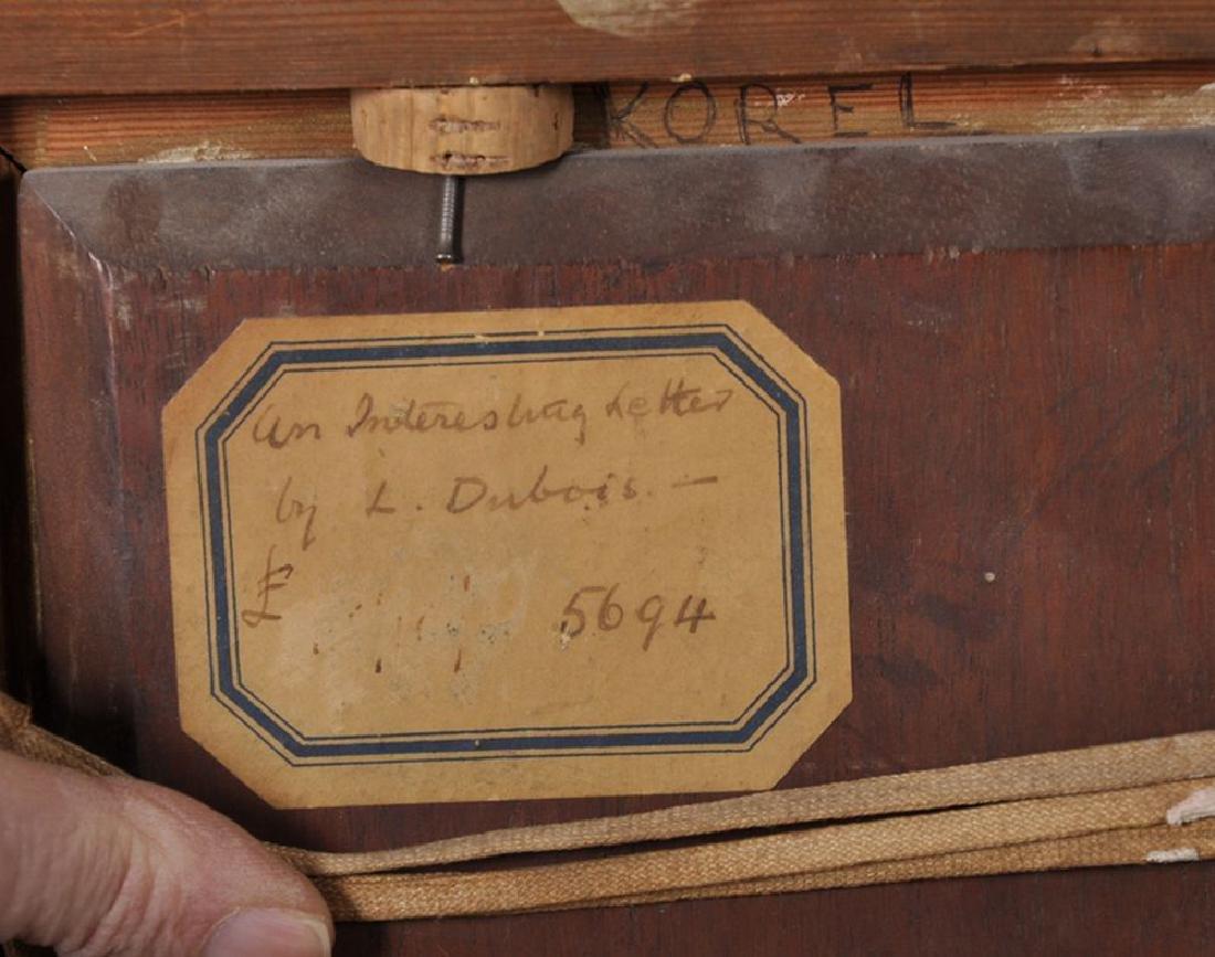 "Louis Dubois (1830-1880) Belgian. ""An Interesting - 4"