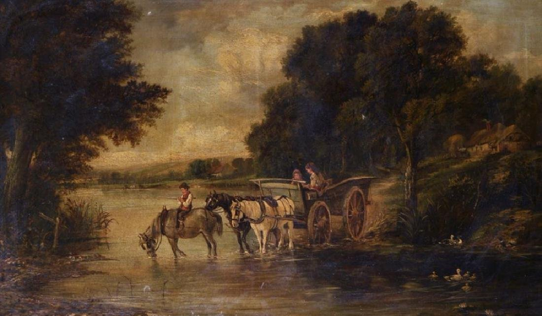 J...Thorn (19th Century) British. River Landscape with
