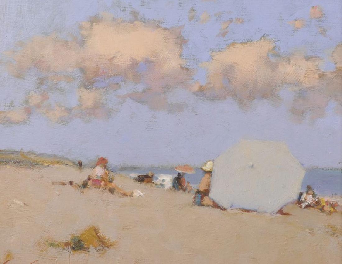 "Ken Moroney (1949    ) British. ""The Beach Parasol"","