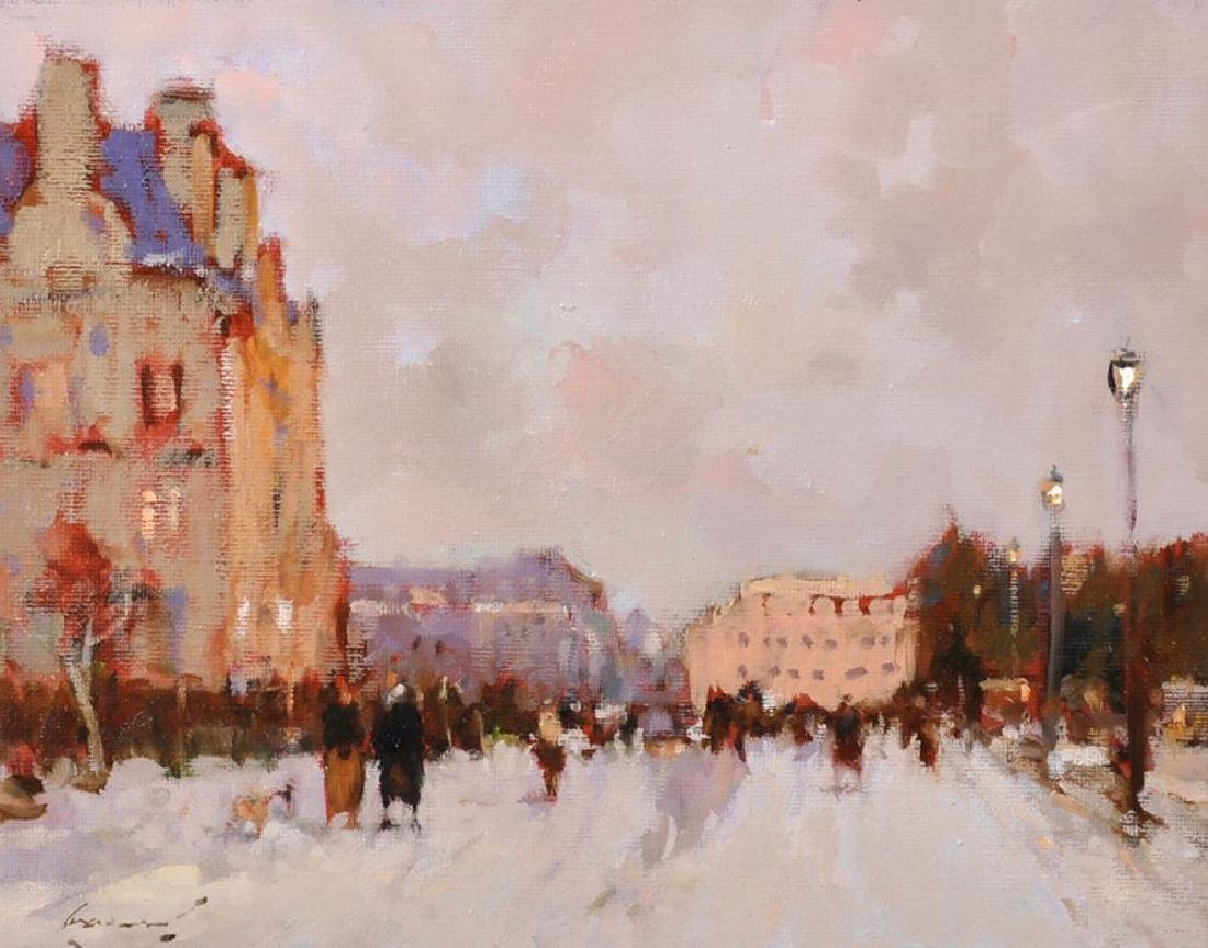 "Ken Moroney (1949    ) British. ""Paris in the Snow"","