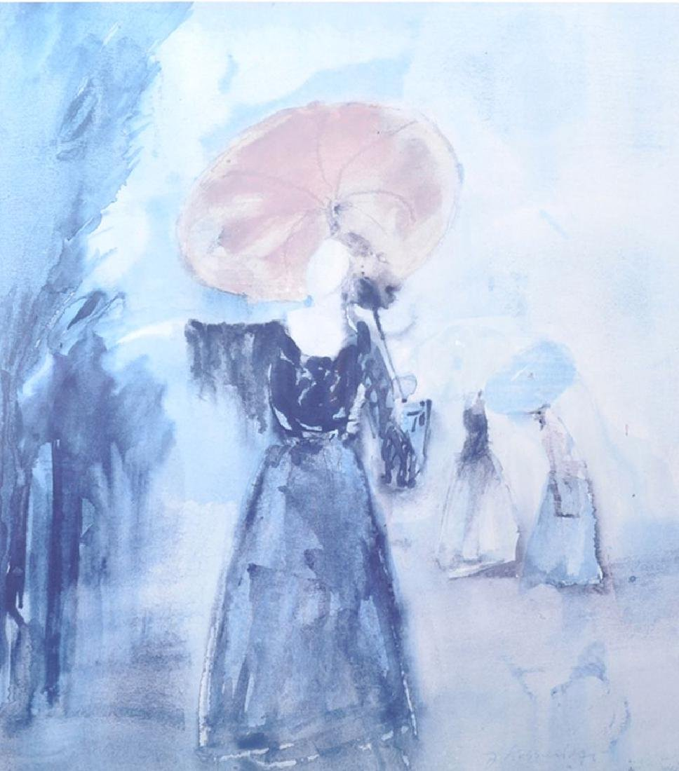 20th Century Russian School. A Lady with a Parasol,