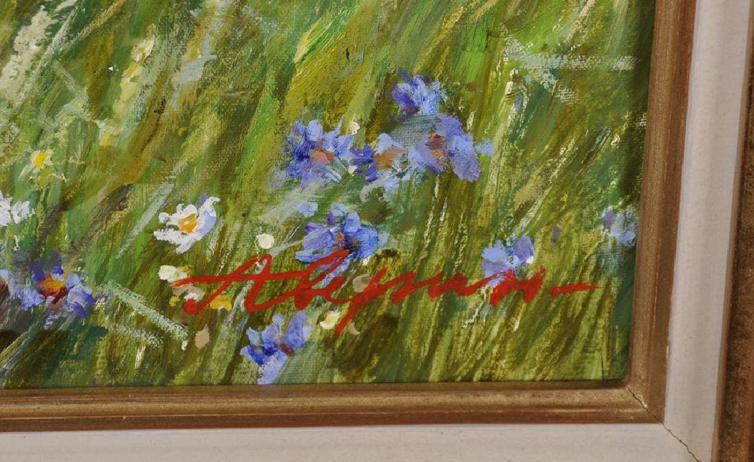 "Alexander Averin (1952   ) Russian. ""Picking Flowers"", - 3"