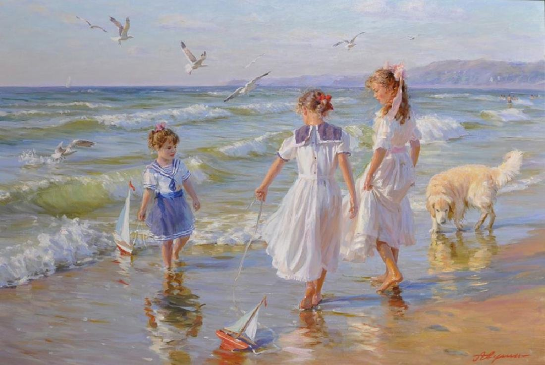 "Alexander Averin (1952   ) Russian. ""Small Ships"","