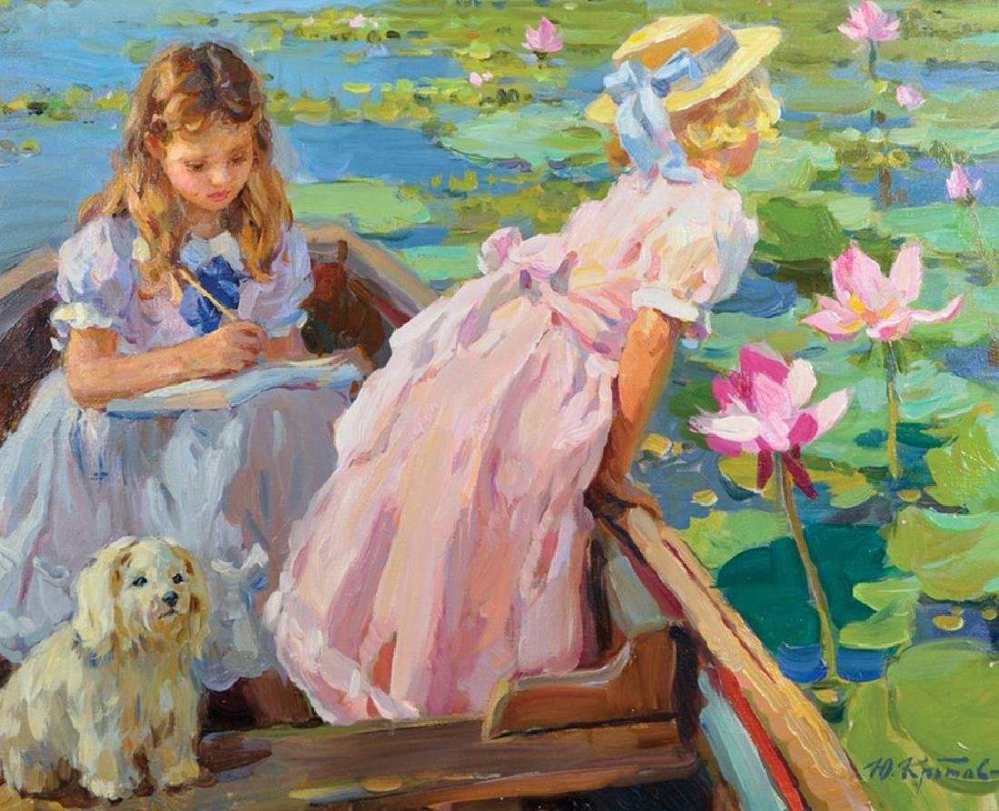 "Yuri Krotov (1964-    ) Russian. ""The Lotuses"", Two"