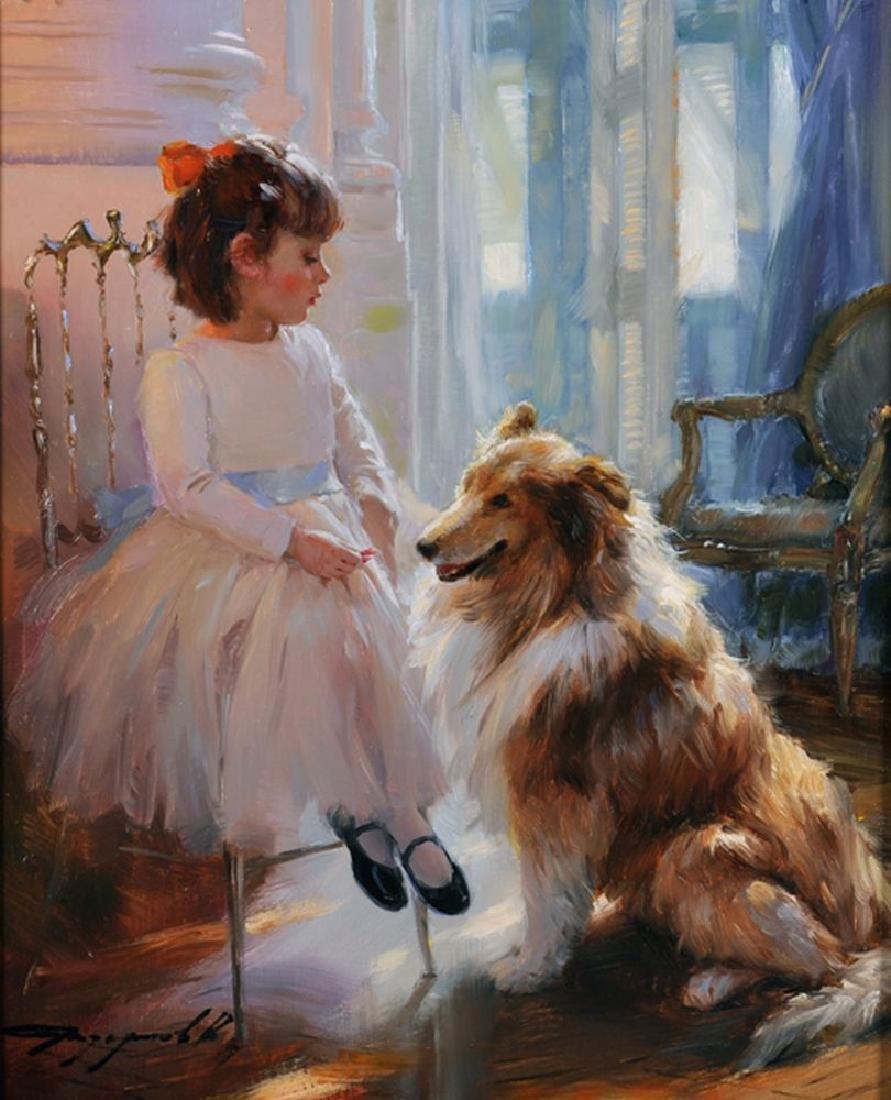 "Konstantin Razumov (1974    ) Russian. ""Little Girl and"