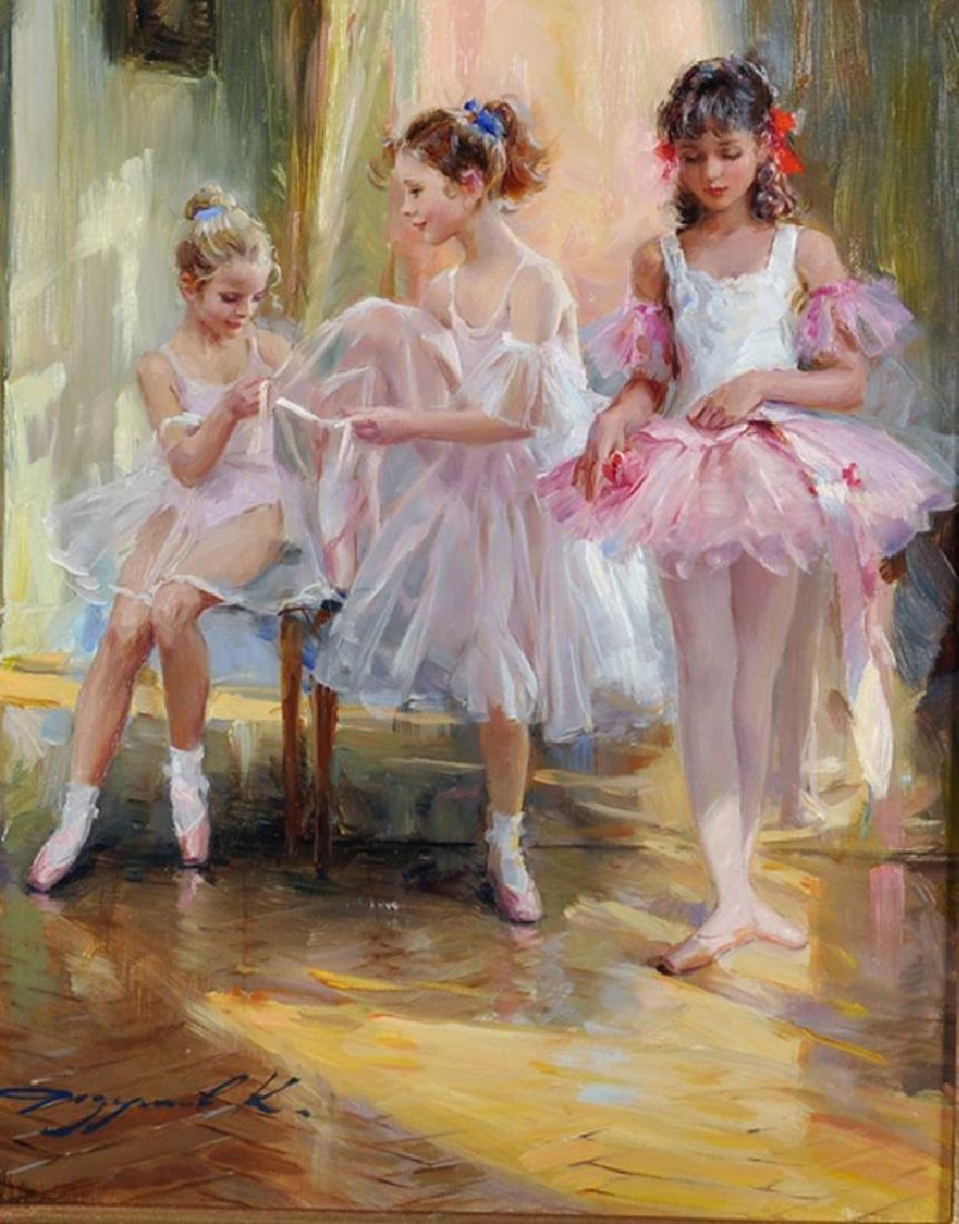 """Konstantin Razumov (1974    ) Russian. """"At the Ballet"""