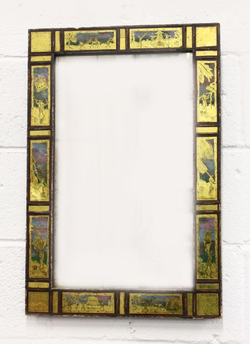 A REGENCY PIER MIRROR, the central mirror plate within