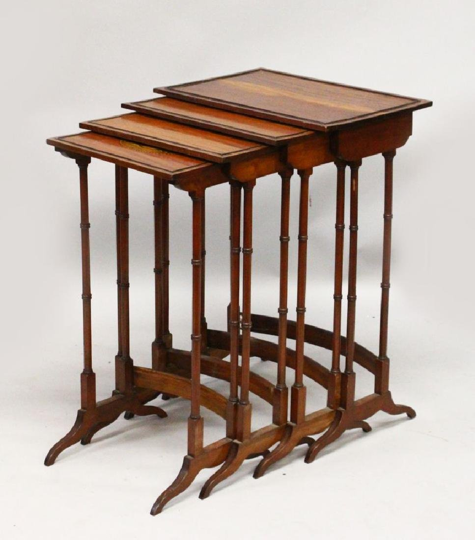 "A REGENCY STYLE MAHOGANY ""QUARTETTO"", each with ebony"