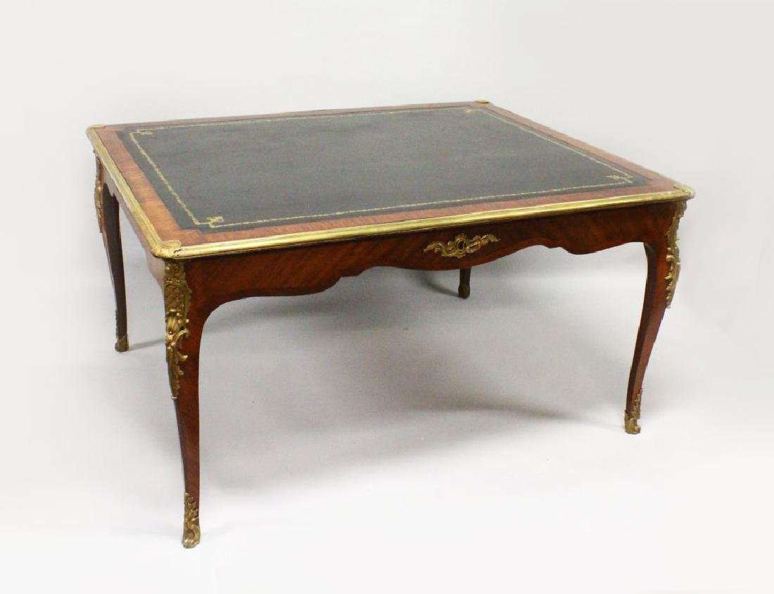 A GOOD 19TH CENTURY LOUIS XVI KINGWOOD BUREAU PLAT with