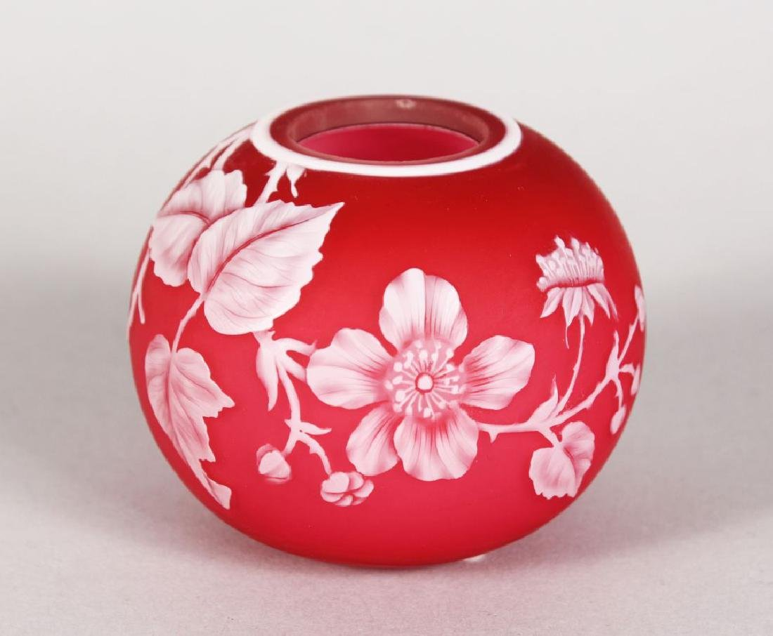 A GOOD WEBB'S CAMEO PINK AND WHITE BOWL, CIRCA. 1880,