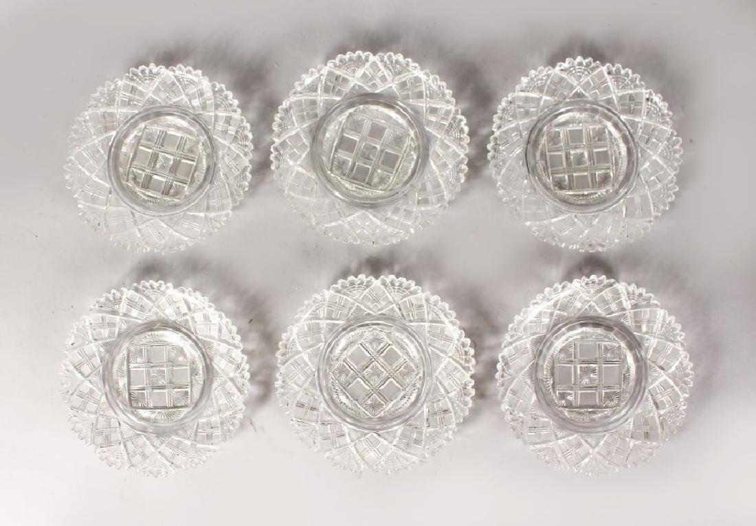 A 19TH CENTURY FINE SET OF SIX GLASS ICE PLATES WITH