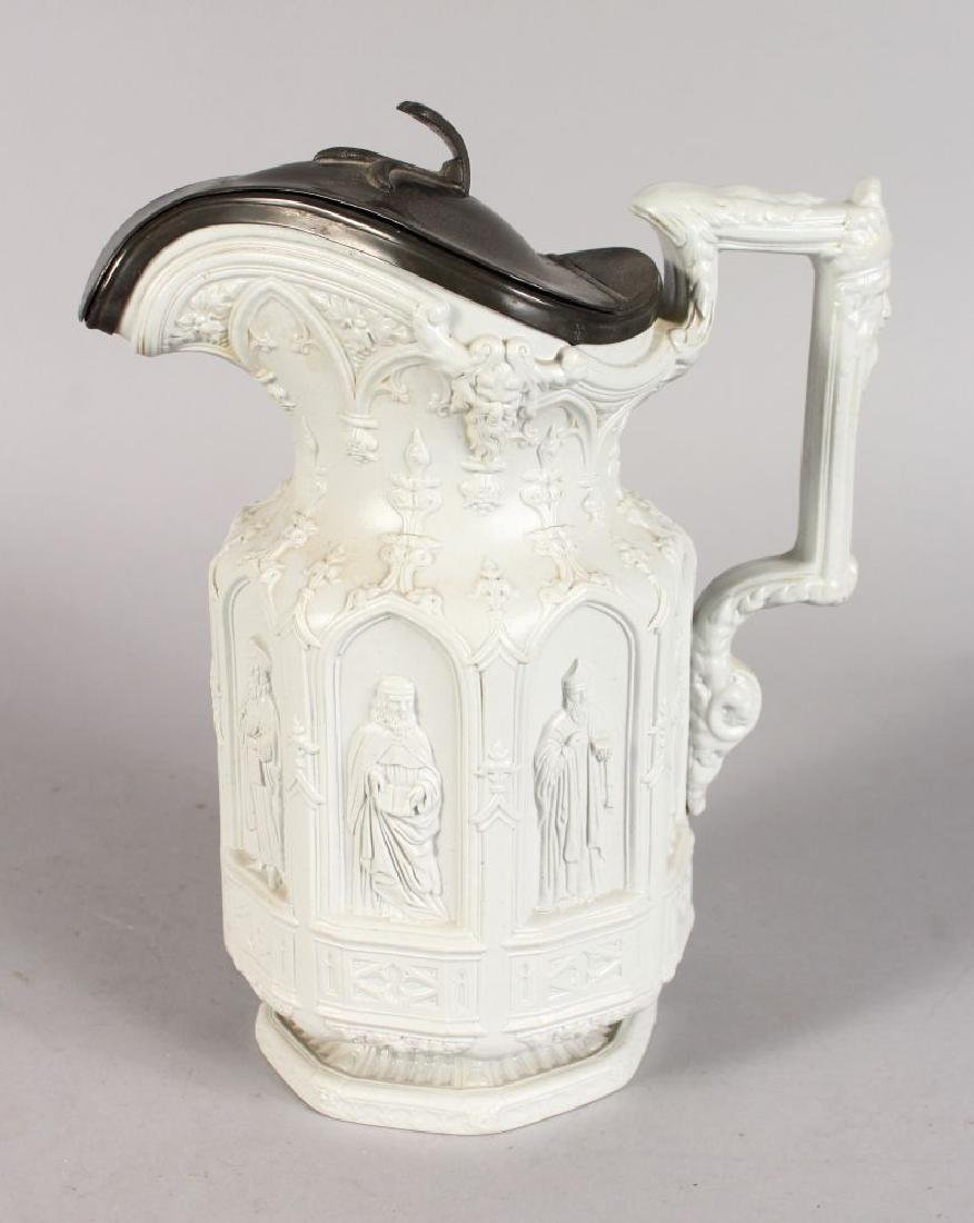 A CHARLES MEIGH APOSTLE JUG with eight apostles