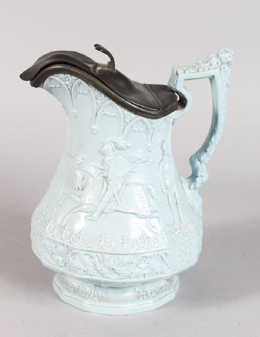 A W. RIDGWAY, SON & CO BLUE JUG, Dated 1880, with