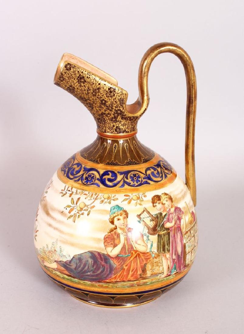 A DOULTON LAMBETH CLASSICAL EWER with a continuous