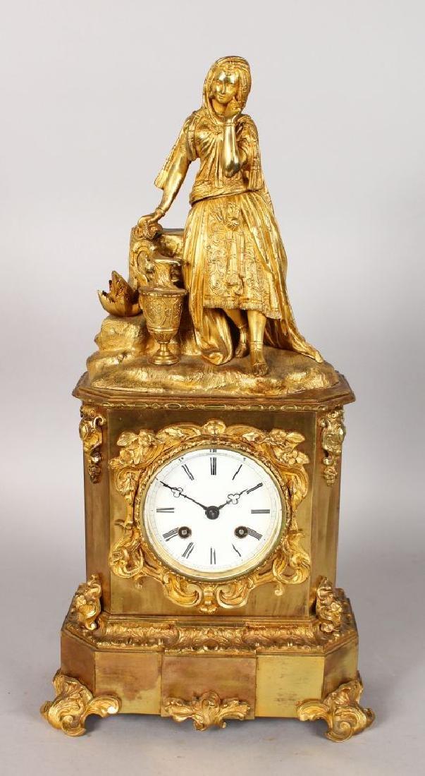 A GOOD 19TH CENTURY FRENCH ORMOLU CLOCK by RAINGO