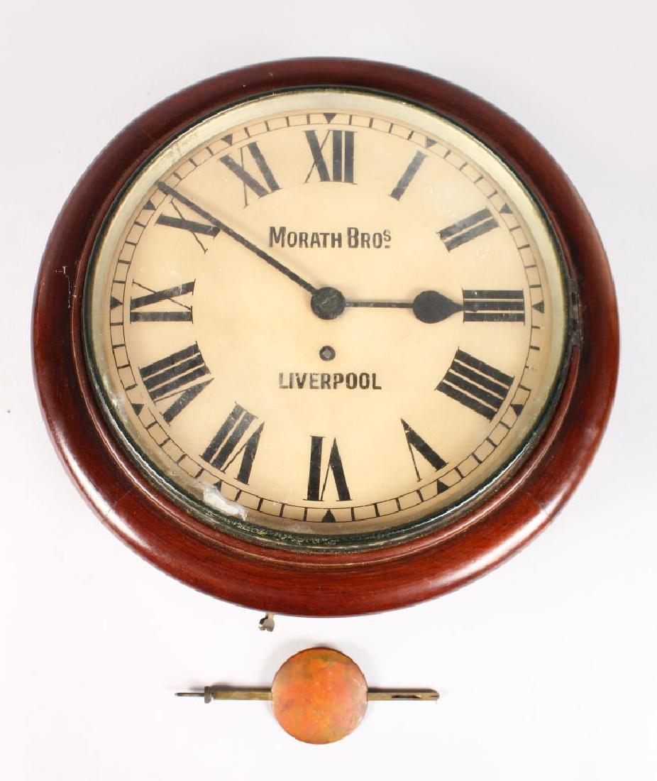 A VICTORIAN MAHOGANY CIRCULAR WALL CLOCK by MORATH